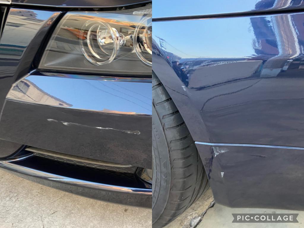 BMW 3シリーズ エグレ修理前