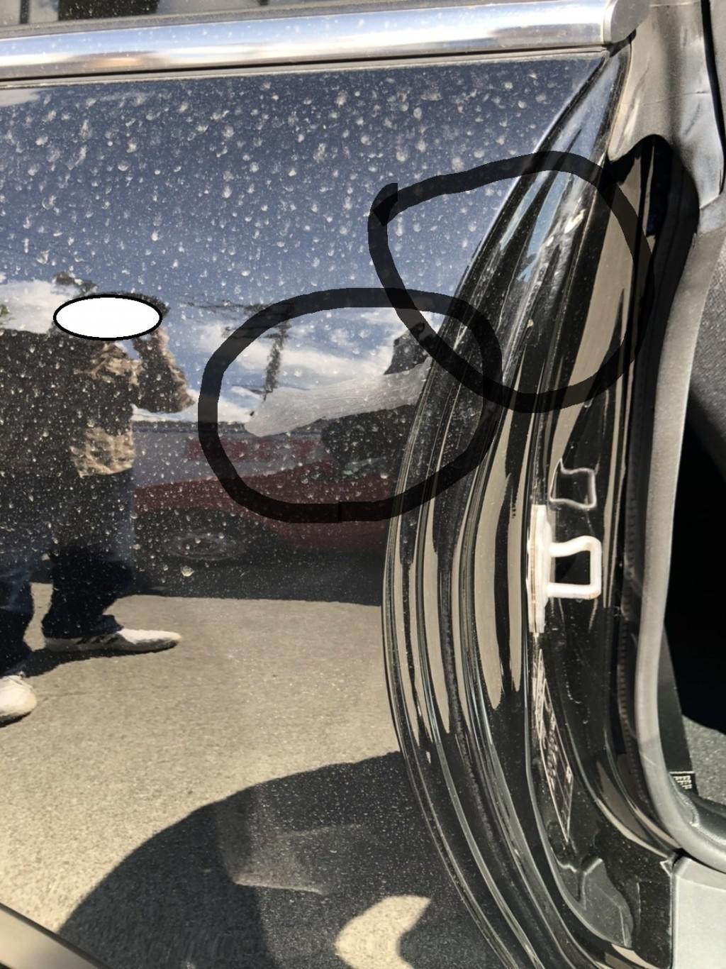 ミニ BMW ミニ ドア 線キズ