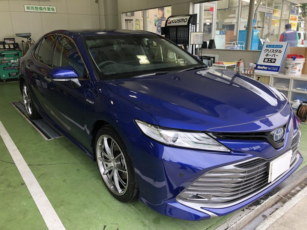 トヨタ カムリ ハイブリッド ステップ 線キズ